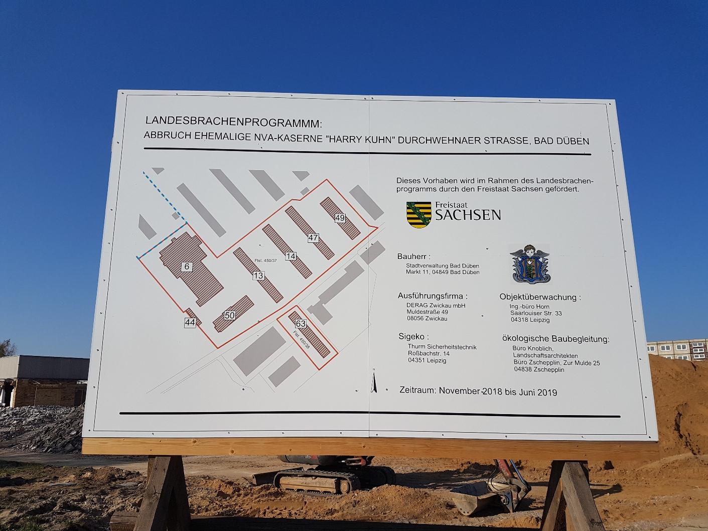 Die Abbrucharbeiten auf der Fläche begannen im November 2018