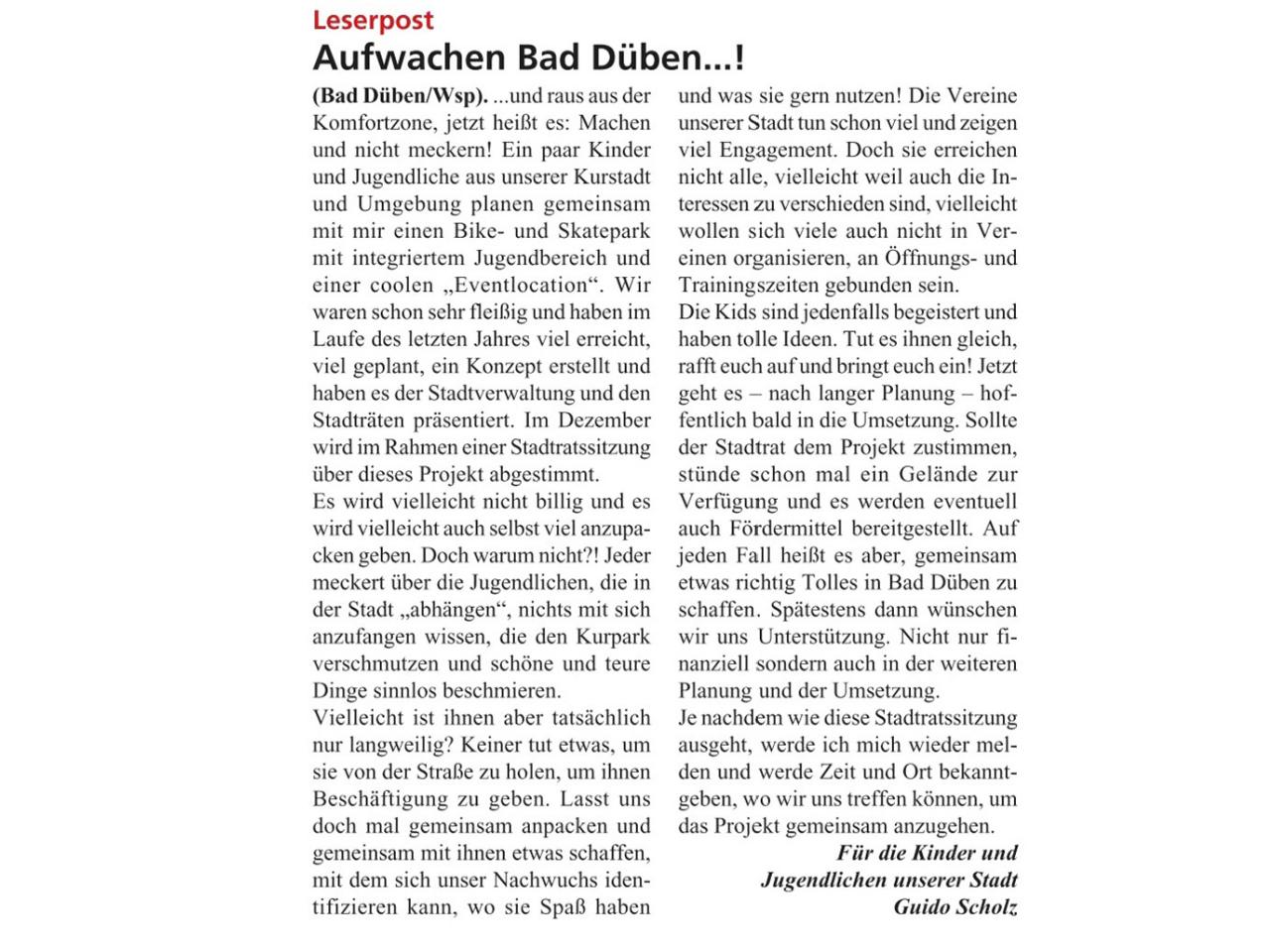 Dübener Wochenspiegel vom 06.11.2019