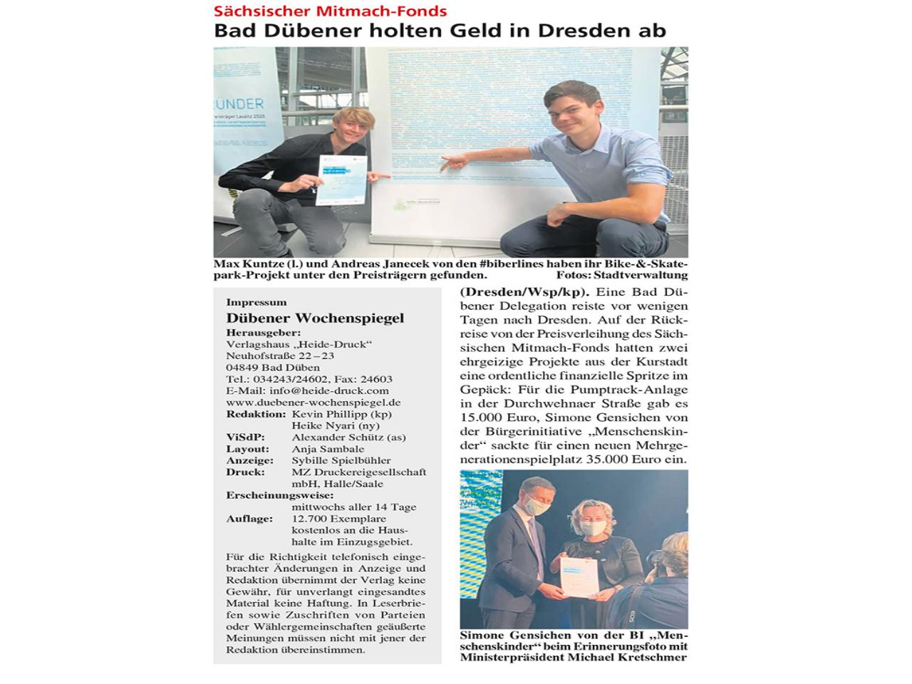 Dübener Wochenspiegel vom 07.10.2020