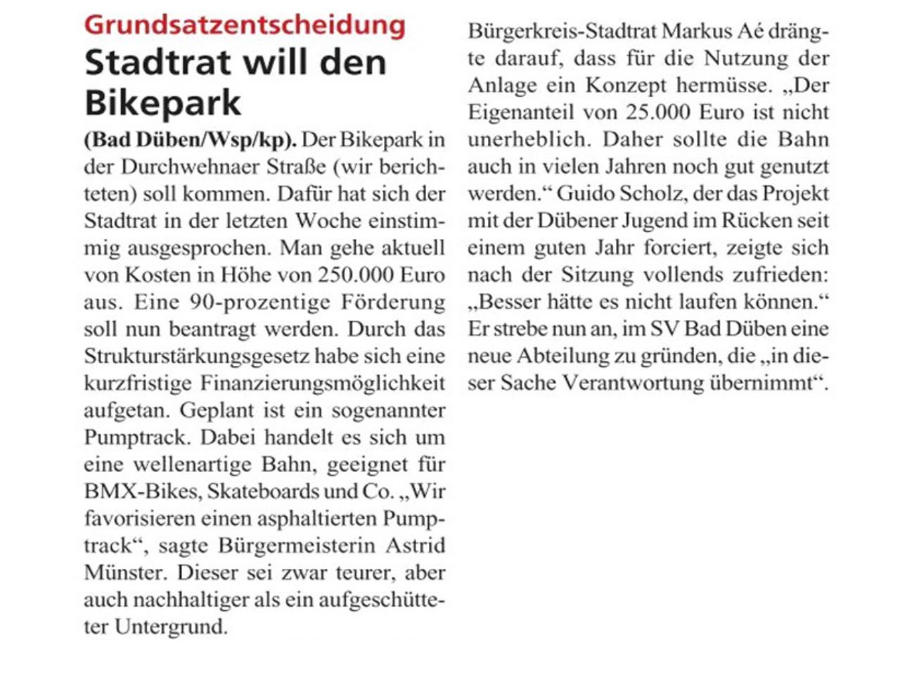 Dübener Wochenspiegel vom 19.11.2019