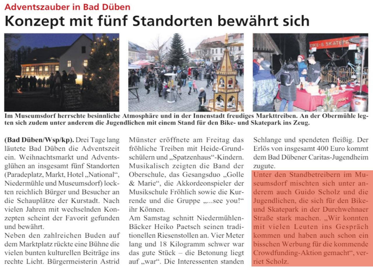 Dübener Wochenspiegel vom 05.12.2019