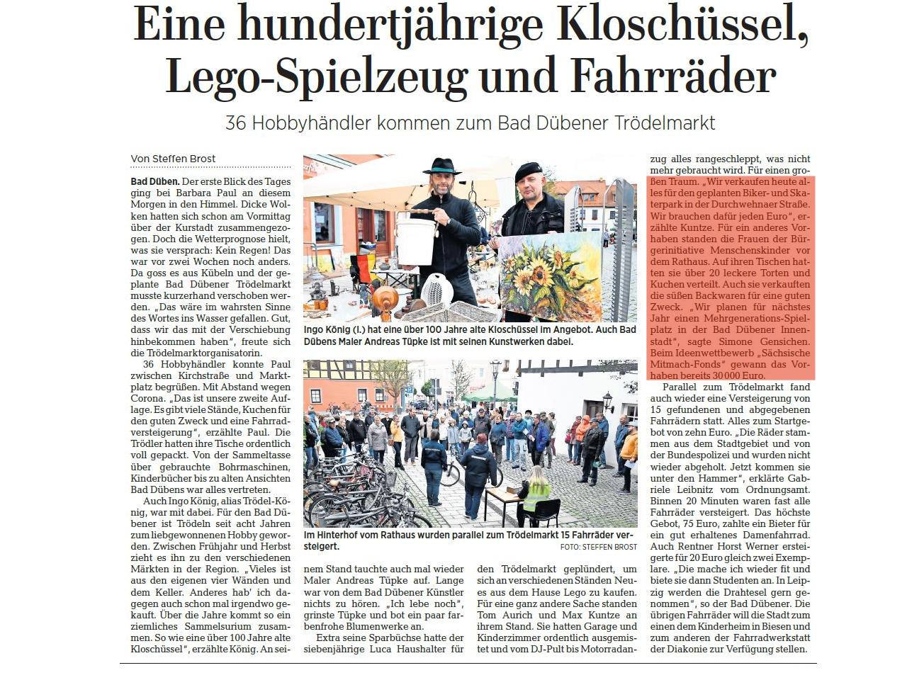 Leipziger Volkszeitung vom 12.10.2020