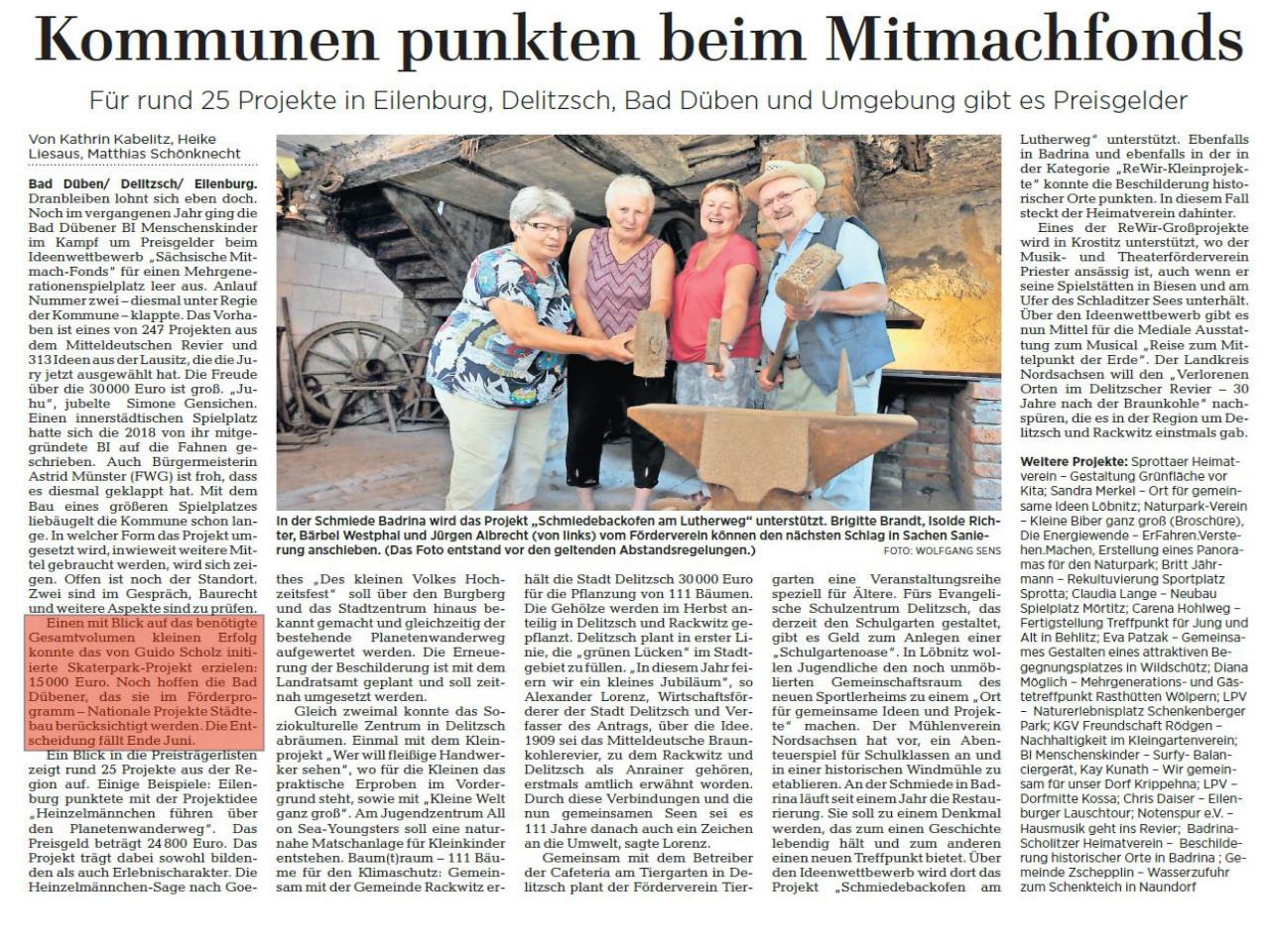 Leipziger Volkszeitung vom 06.06.2020