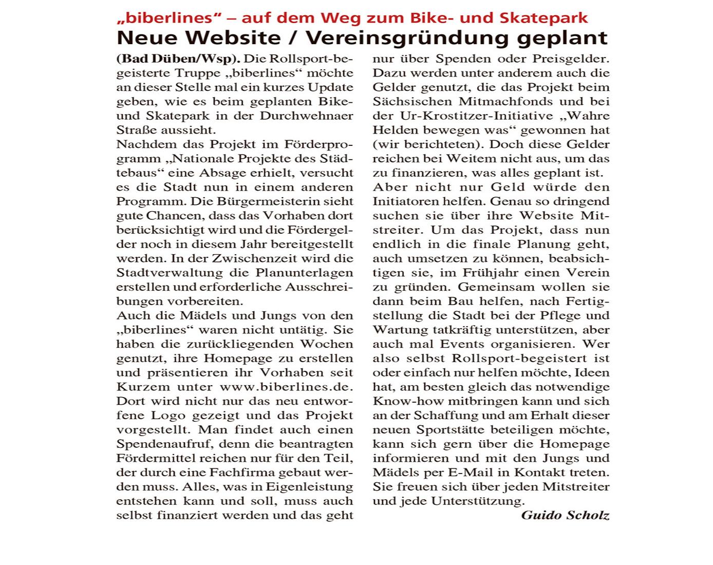 Dübener Wochenspiegel vom 03.02.2021