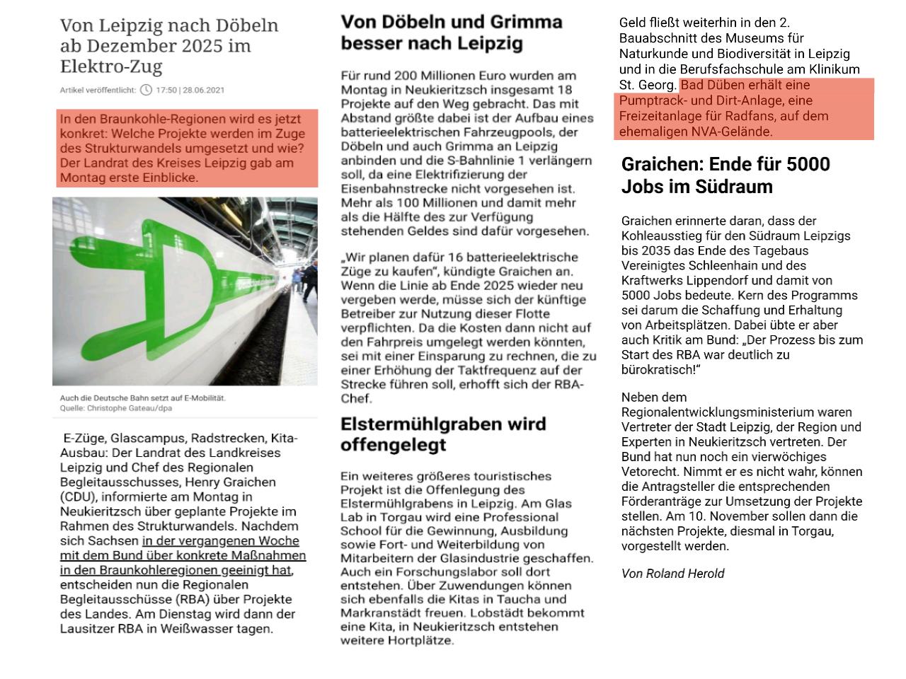 Leipziger Volkszeitung vom 29.06.2021